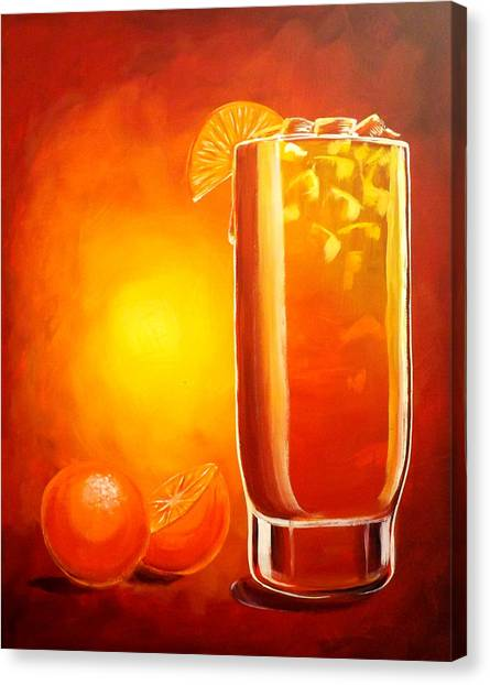 Tequila Sunrise Canvas Print - Tequila Sunrise by Darren Robinson