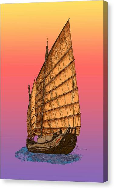 Tequila Sunrise Junk Canvas Print
