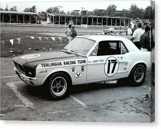 Terlingua Mustang At Marlboro Trans Am Race 1967 Canvas Print