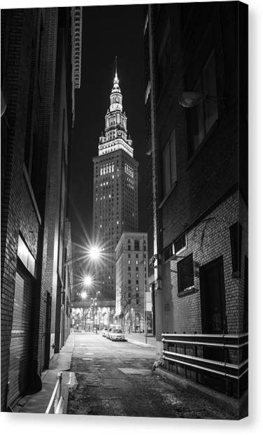 Terminal Tower From A Cleveland Alley Canvas Print