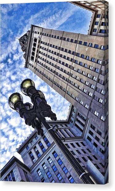 Terminal Tower - Cleveland Ohio - 1 Canvas Print