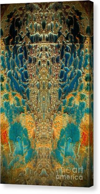 Termite Damage Canvas Print by Karen Newell