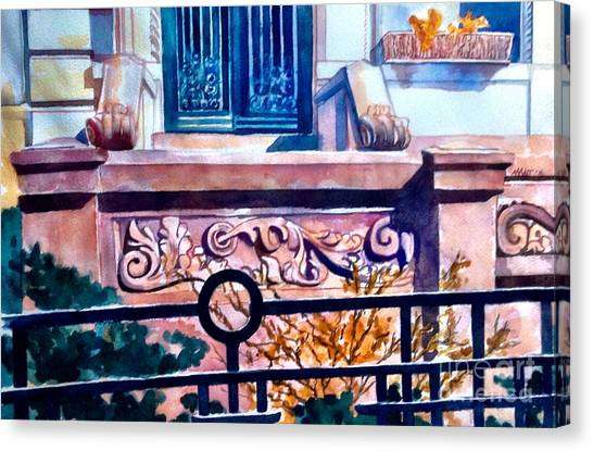 Terra Cotta And Iron Fence Canvas Print