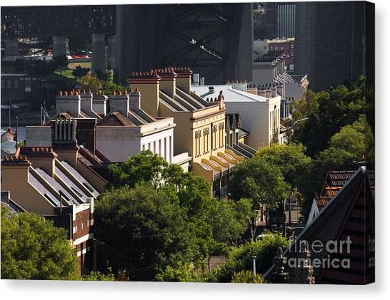 Terrace Houses In The Rocks Area Of Sydney Canvas Print
