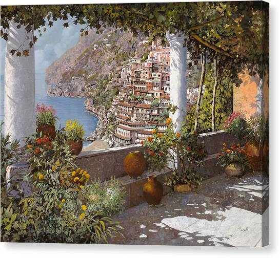 Coast Canvas Print - terrazza a Positano by Guido Borelli