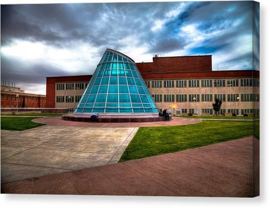 Washington State University Canvas Print - Terrell Library Plaza On The Washington State Campus by David Patterson