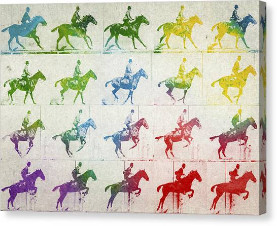 Horses Canvas Print - Terrestrial Locomotion by Aged Pixel