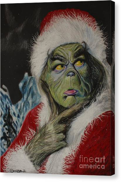 Grinch Canvas Print - Terrible One by Joshua Navarra
