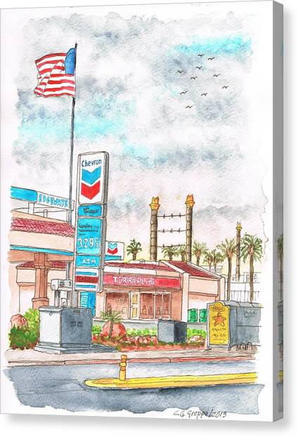 Terribles Chevron Gas Station, Laughlin, Nevada Canvas Print
