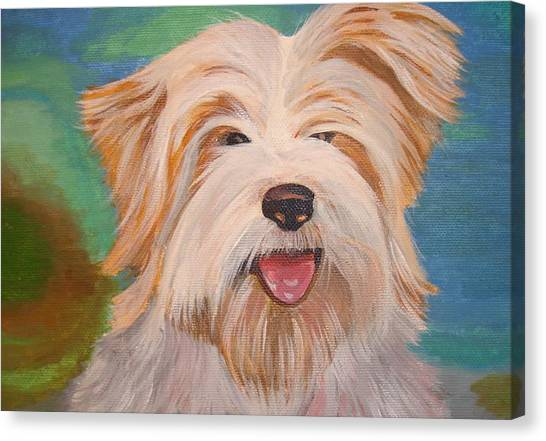 Terrier Portrait Canvas Print