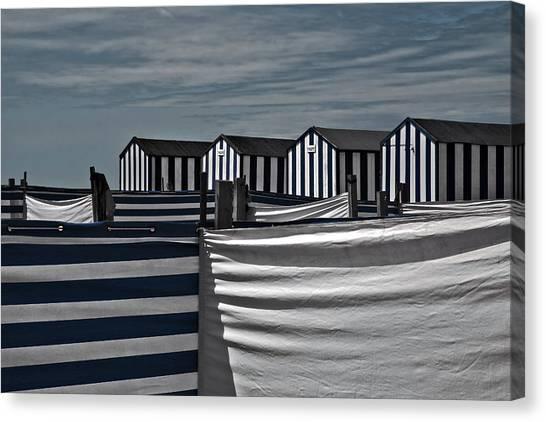 Beach Cabin Canvas Print - Territorial Behavior by Gilbert Claes