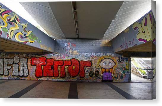 Terror Canvas Print by Kees Colijn