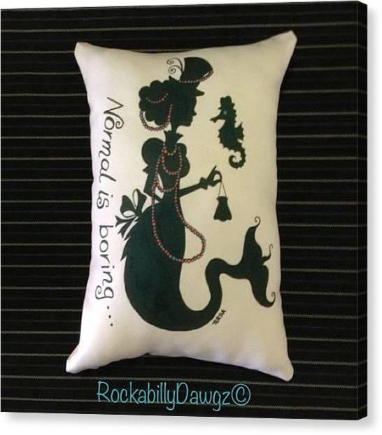 Seahorses Canvas Print - Tertia Starr Art On A Cushion Available by Avril O