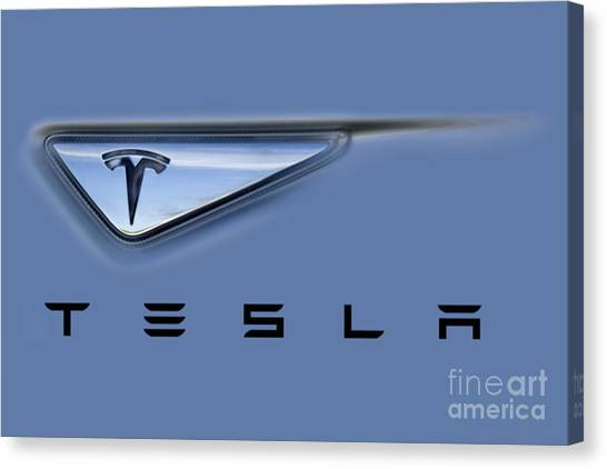 Tesla Artwork Canvas Print