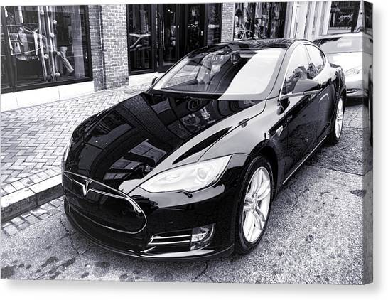 Tesla Model S Canvas Print