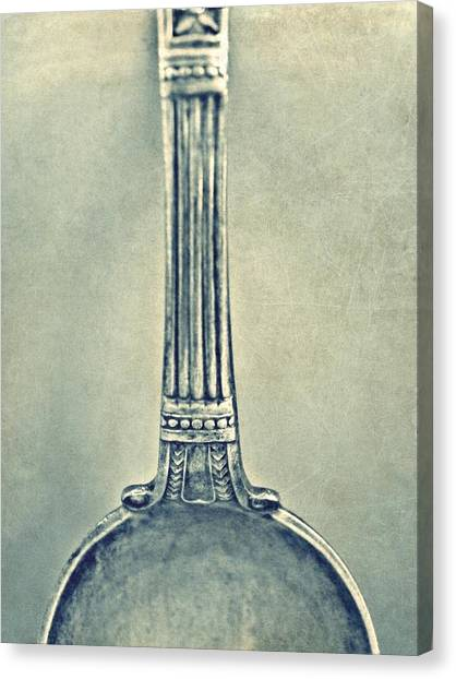 Silver Spoon Canvas Print