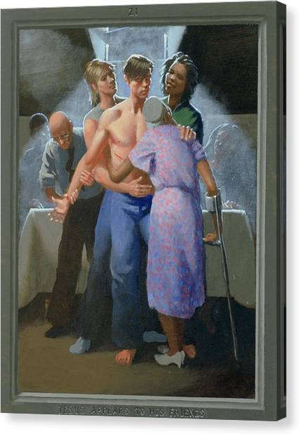 21. Jesus Appears To His Friends / From The Passion Of Christ - A Gay Vision Canvas Print by Douglas Blanchard