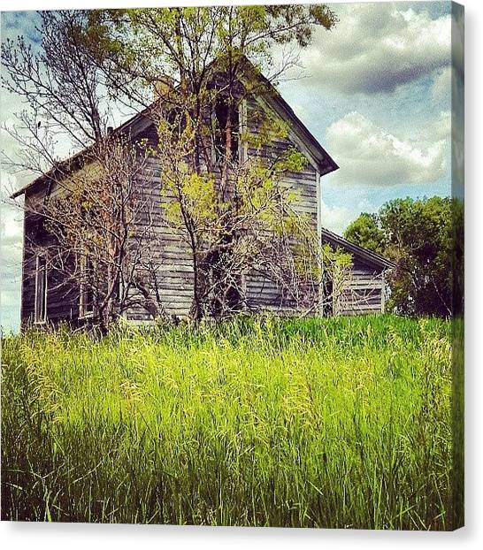 House Canvas Print - Test Of Time by Aaron Kremer
