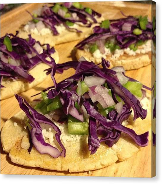 Vegetarian Canvas Print - Test Run For A Cinco De Mayo Potluck by Kathy H