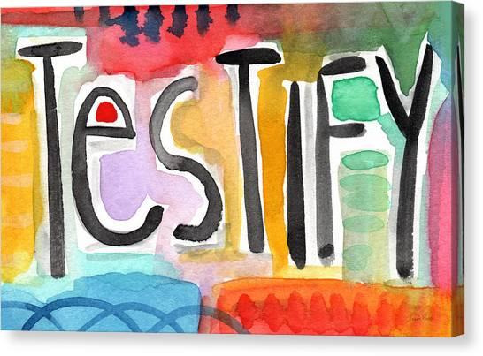 Modern Art Words Canvas