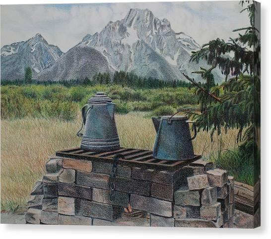 Teton Cook Site Canvas Print