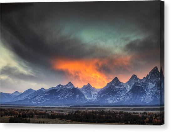 Beauty Mark Canvas Print - Teton Explosion by Mark Kiver