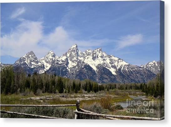 Teton Majesty Canvas Print
