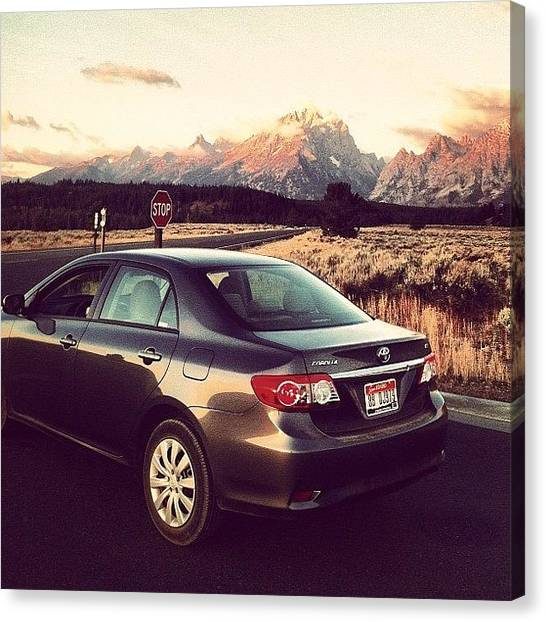 Toyota Canvas Print - Teton National Park.  #instagood by Cesar D Romero