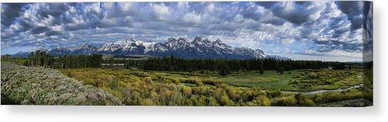 Teton Panorama Canvas Print