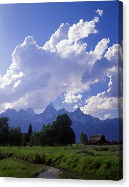 Teton Ranch Afternoon Canvas Print by Mike Norton