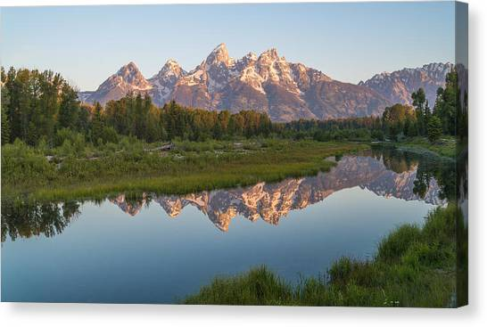 Teton Canvas Print - Teton Reflecting by Kristopher Schoenleber