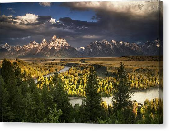 Teton National Forest Canvas Print - Teton Shadow Play by Andrew Soundarajan