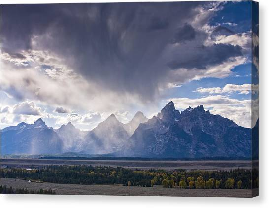 Beauty Mark Canvas Print - Teton Storm by Mark Kiver