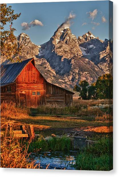 Teton Sunrise Canvas Print