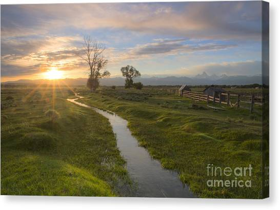 Teton Valley Morning Canvas Print