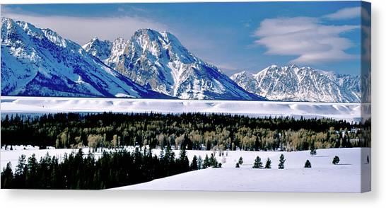 Teton Valley Winter Grand Teton National Park Canvas Print