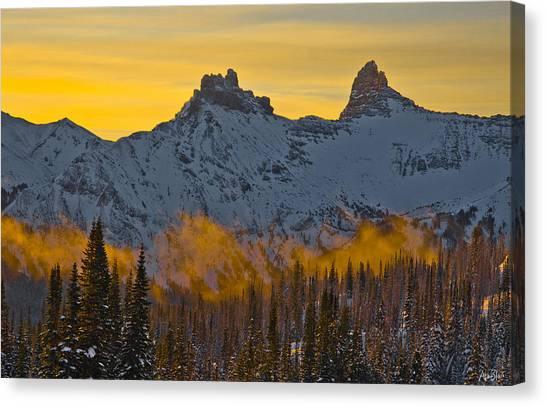Tetons Canvas Print by Abe Blair