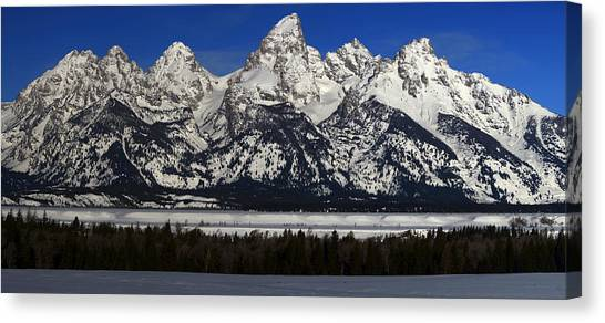 Tetons From Glacier View Overlook Canvas Print