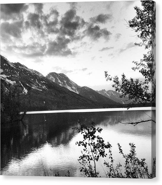 Tetons Canvas Print - Tetons Reflection At by Mindful Adventure
