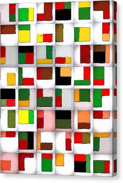 Tetris Canvas Print - Tetris Maze by Florian Rodarte