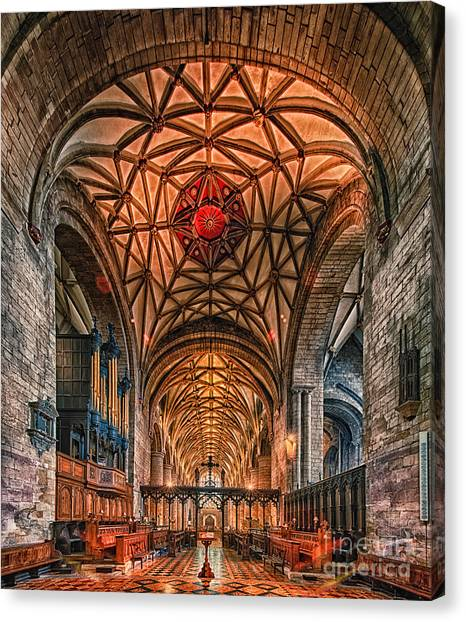 Tewkesbury Abbey IIII Canvas Print