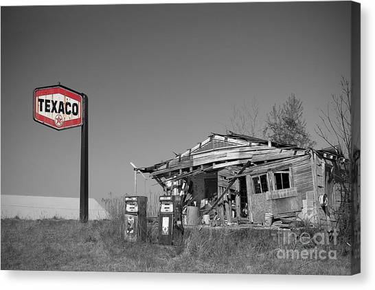 Texaco Country Store With Sign Canvas Print