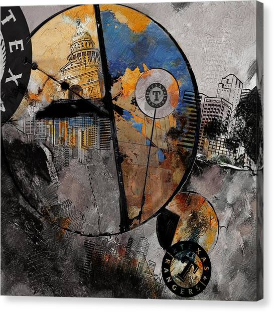 University Of Chicago Canvas Print - Texas - B by Corporate Art Task Force