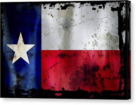 Texas Rangers Canvas Print - Texas Battle Flag by Daniel Hagerman