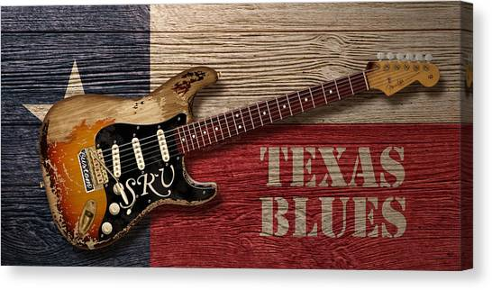 Stratocasters Canvas Print - Texas Blues by WB Johnston