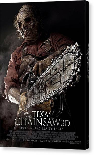 Chainsaw Canvas Print - Texas Chainsaw 3d  by Movie Poster Prints