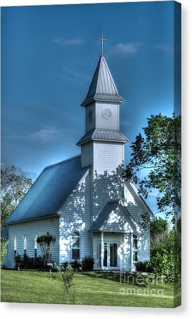Texas Country Church Canvas Print