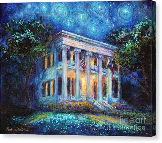 Canvas Print - Texas Governor Mansion Painting by Svetlana Novikova