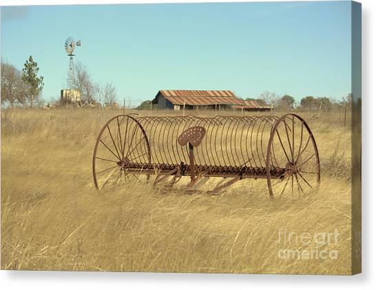 Texas Hill Country Farmscape Canvas Print by Joe Pratt