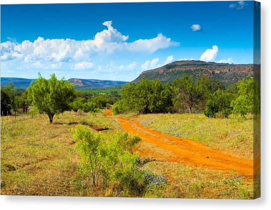 Texas Hill Country Red Dirt Road Canvas Print